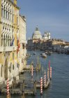 Blick auf die Kirche Santa Maria della Salute vom Canal Grande, Venedig, Venetien, Italien — Stockfoto