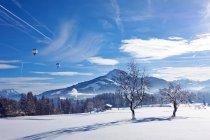 Rural scene in snow, Kirchberg, Austria — Stock Photo