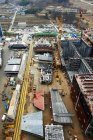 Shipping port, elevated view, GoSeong-gun, South Korea — Stock Photo