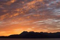 Cuillin горы, на закате, Скай, Гебриды, Шотландия — стоковое фото