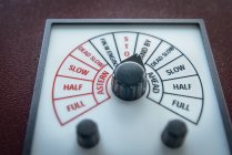 Close up of engine speed controls on container ship — Stock Photo
