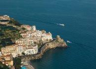 Vista aerea di Amalfi, Campania, Italia — Foto stock