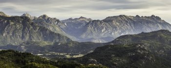 Panoramic mountain valley landscape,  Futaleufu, Los Lagos region, Chile — Stock Photo