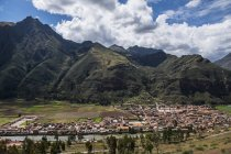 View of village Urubamba at the sacred valley, Peru — Stock Photo