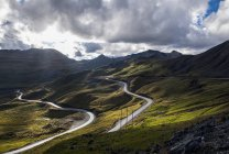 Горная дорога в Перу, Aquia, Анкаш, Перу, Южная Америка — стоковое фото