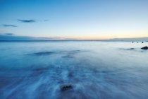 Lunga esposizione del tramonto sul mare, Odessa, Odessa Oblast, Ucraina, Europa — Foto stock