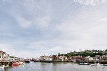Scenic view, Whitby, North Yorkshire, England — Fotografia de Stock
