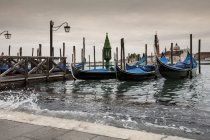 High water rising up to St Mark 's Square, Venice, Italy — стоковое фото