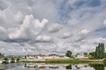 Landscape with bridge over Loire river, Amboise, Loire Valley, France — Stock Photo