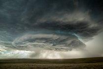 Супершторм приближается к городу Берлингтон, штат Колорадо, США — стоковое фото