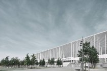 Angled view of the Nouveau Stade de Bordeaux football stadium, Aquitaine, France — Stock Photo