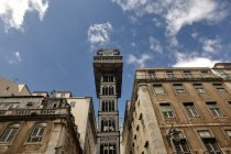 Bottom view of Santa Justa Lift, Lisbon, Portugal — Stock Photo