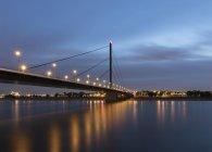 Oberkasseler Bridge, Dusseldorf, Germany — Stock Photo