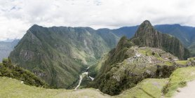 Views from top of Machu Picchu Mountain, Cusco, Peru, South America — Stock Photo