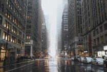 Paesaggio urbano di inverno a New York, Usa — Foto stock