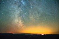 Diamond Creek Wildfire 2017, Milky Way, North Cascade Mountain Range, Penticton, British Columbia, Canada — Stock Photo