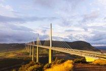 Landschaftsbild von Millau-Viadukt Millau, Midi-Pyrenäen, Frankreich — Stockfoto