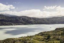 Paisagem com lago glaciar Grey, Parque Nacional Torres del Paine, Chile — Fotografia de Stock