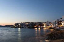 Little Venice, Mykonos Town, Cyclades, Greece — Stock Photo