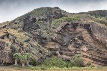 Formazione rocciosa martellata, Fogo, Capo Verde, Africa — Foto stock