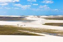 Песчаные дюны, Жерикоакоара Национальный парк, Сеара, Бразилия, Южная Америка — стоковое фото