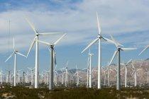 Observando a vista de Wind Farm, Palm Springs, Califórnia, EUA — Fotografia de Stock