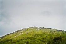 Montaña con hierba verde y cielo nublado en Andalucia, España - foto de stock
