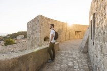 Man looking away view in Dubrovnik, Dubrovacko-Neretvanska, Croatia, Europe — Stock Photo