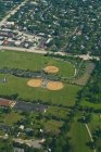 Aerial view of suburban lawns in Illinois, USA — Stock Photo