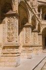 Stein-Säulen des Christentums Jeronimos Kloster, Lissabon, Portugal — Stockfoto