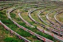 Seats in rodeo ground, Alberta, Canada — Stock Photo