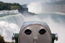 Binocolo a monete, Cascate del Niagara, New York, USA — Foto stock
