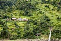 Vista de alto ângulo de estrada para Chitwan, Nepal — Fotografia de Stock