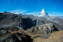 Маттерхорн, Пеннинские Альпы, Швейцария — стоковое фото