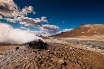 Гарячі джерела Hverir, Namafjall, Ісландія — стокове фото