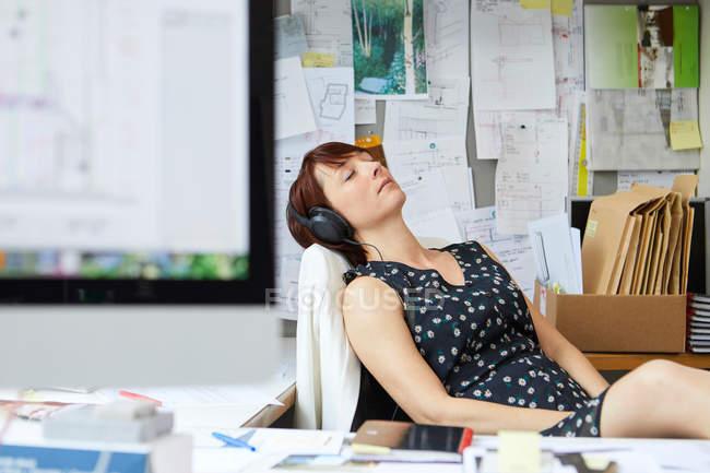 Female designer at office — Stock Photo