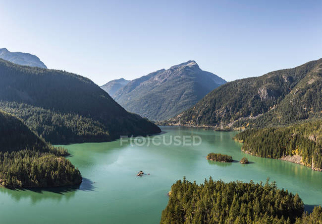 Vista do lago Diablo — Fotografia de Stock