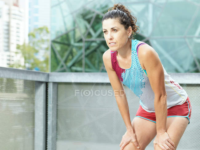 Portrait of mature female ultra runner — Stock Photo