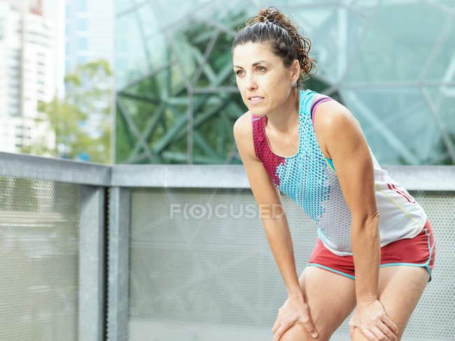 Porträt einer reifen Ultraläuferin — Stockfoto