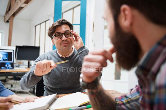Design team brainstorming — Stock Photo