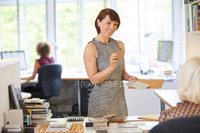 Female interior designer — Stock Photo