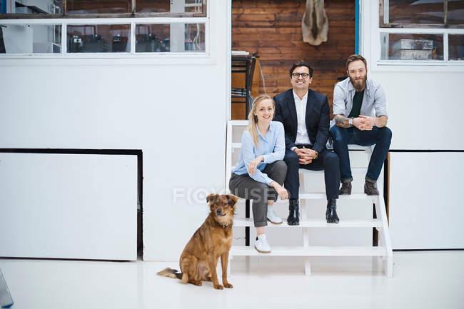 Male and female design team — Stock Photo
