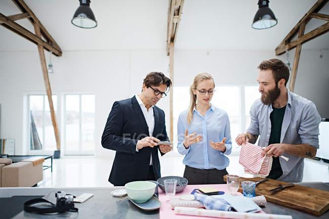 Interior designer team — Stock Photo