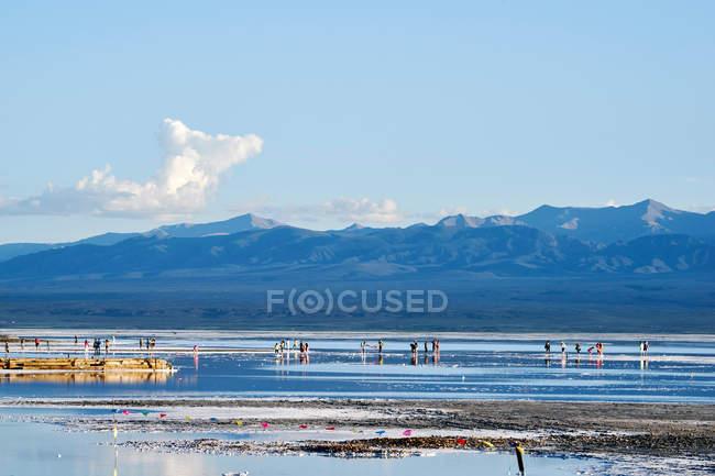 Чака солоне озеро — стокове фото