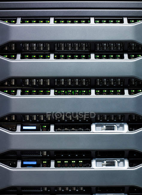 Led lights on data storage equipment — Stock Photo