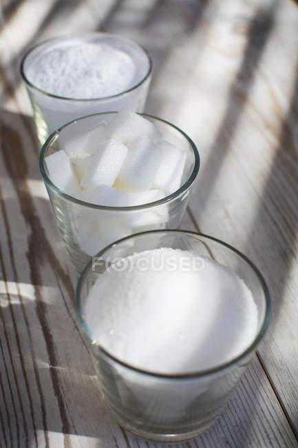 Copos de açúcar em várias formas — Fotografia de Stock