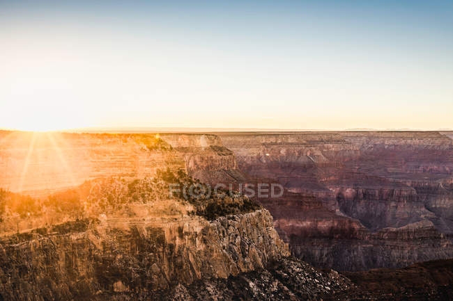 Сонячної подання в Гранд-Каньйон — стокове фото
