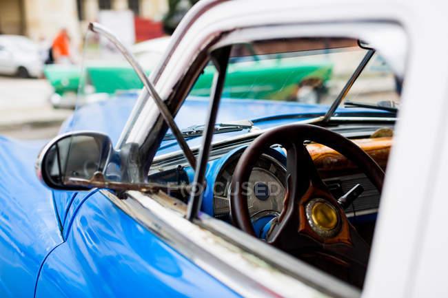 Interni auto d'epoca — Foto stock