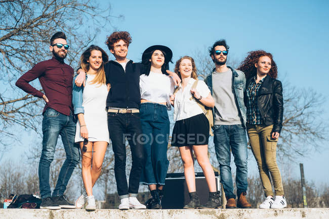Portrait of group of friends — Stock Photo