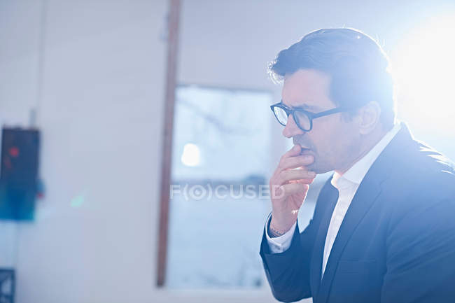 Male designer in design studio — Stock Photo